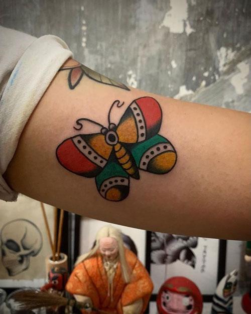 Traditional American Tattoo mariposa