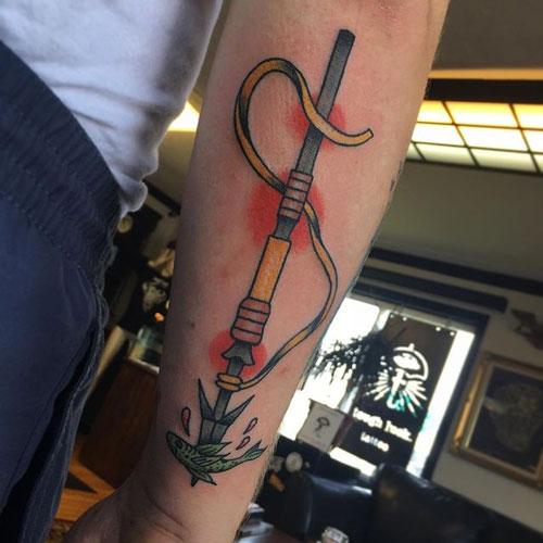 tatuaje de arpon
