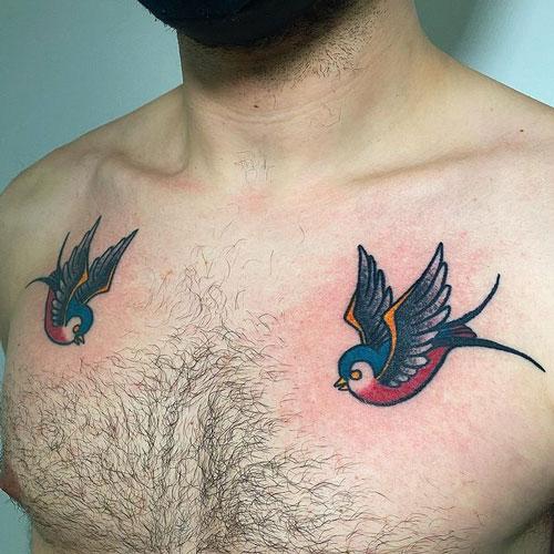 tatuaje dos golondrinas
