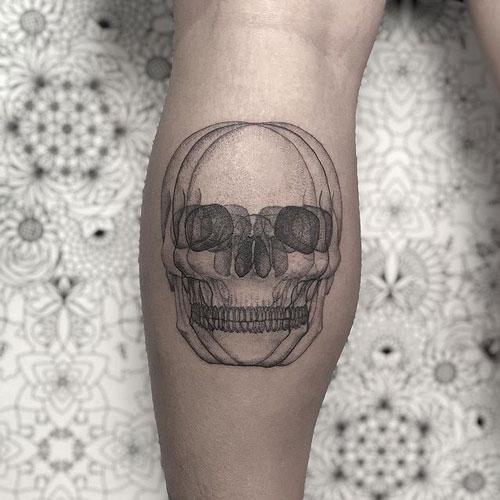calavera tatuaje en 3d