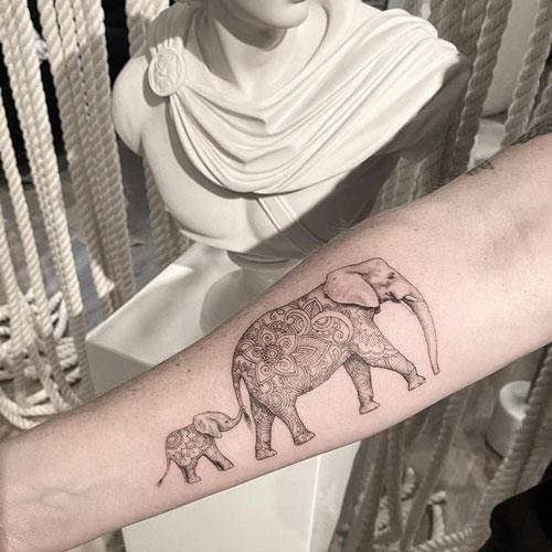 Tatuajes geniales de Elefantes
