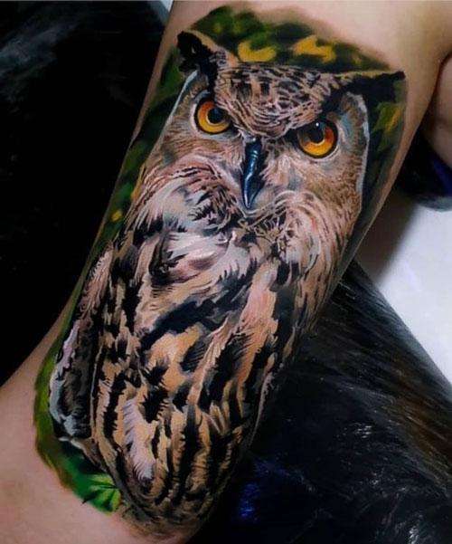 Increíbles tatuajes de Búhos