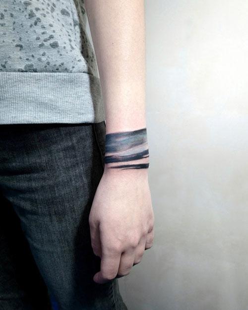 tatuaje Pulsera de acuarela