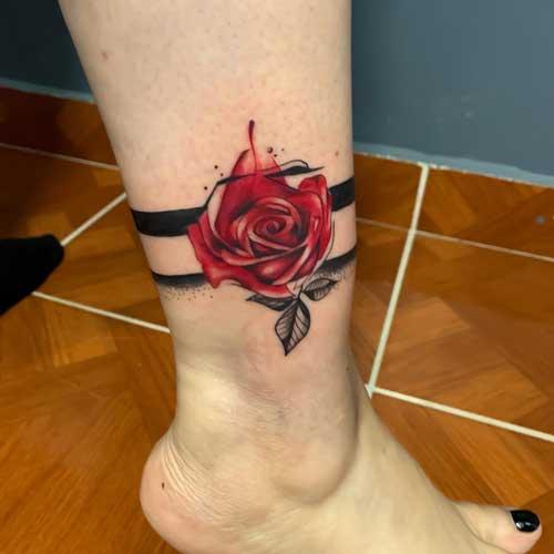 Tatuajes Brazalete en el tobillo