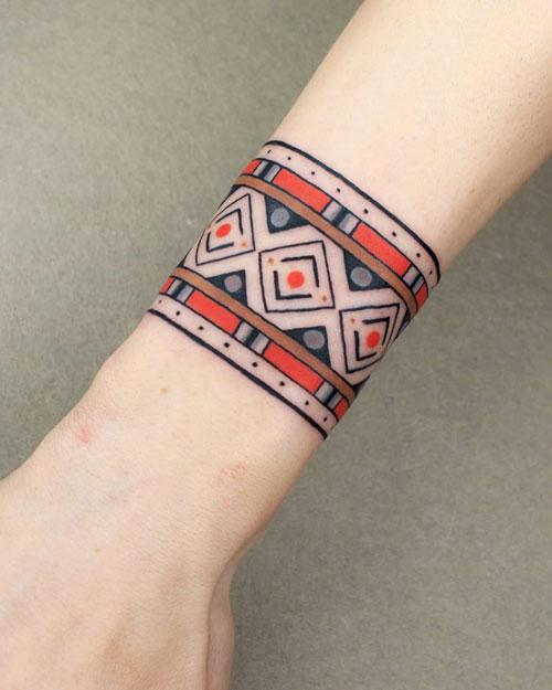 Traditional bracelet tattoo