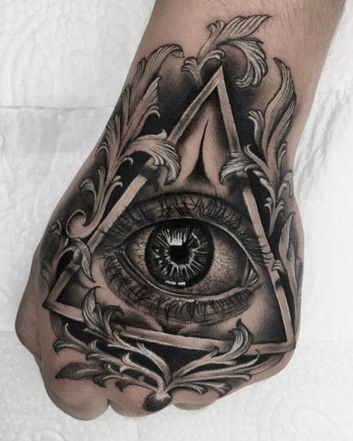 tatuaje del ojo de dios