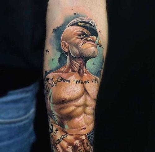 popeye tattoos