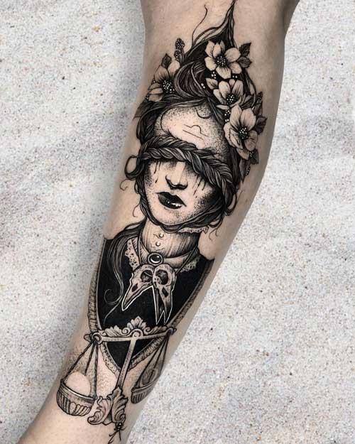 Tatuaje signo libra