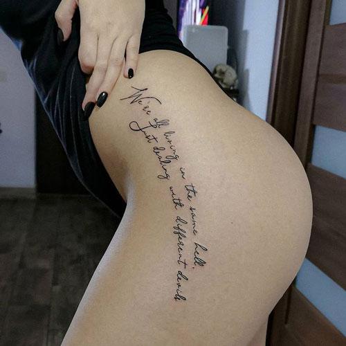 tatuaje en pierna mujer