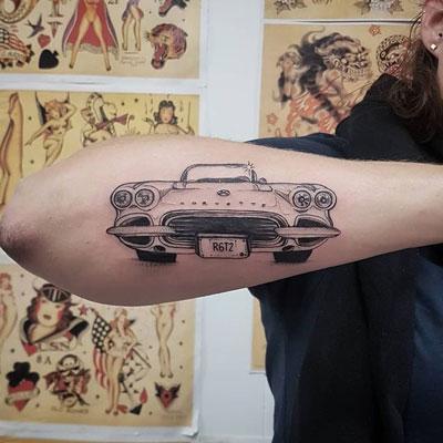 tatuaje de corvette