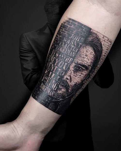 tatuaje de john wick