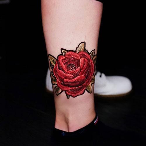 patch tattoo rose