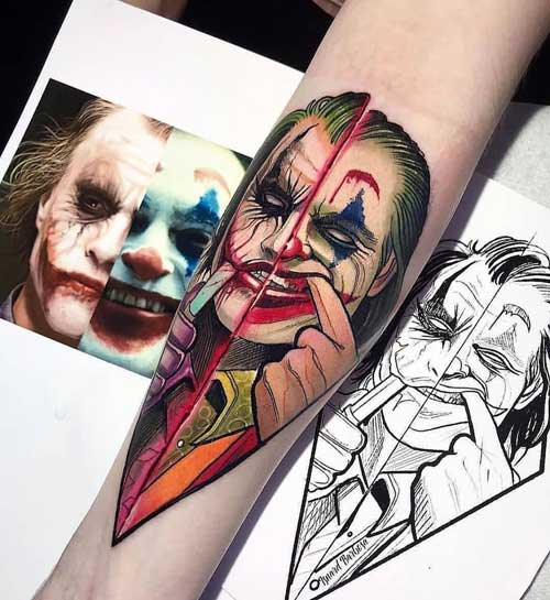 tatuaje de la película Joker