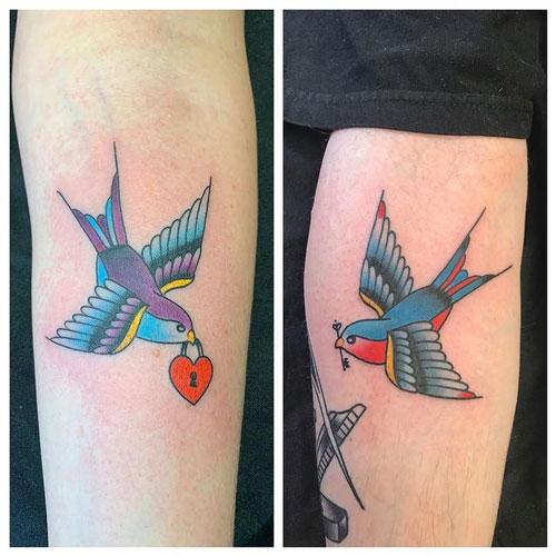 tatuaje de aves para parejas