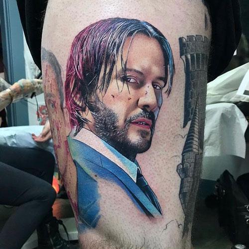 john wick tattoo design
