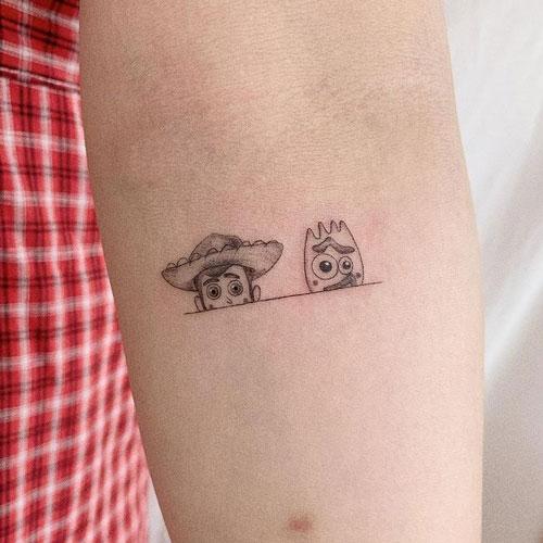 tatuajes de la película toy story