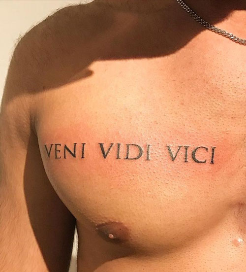 veni, vidi, vici tatuaje