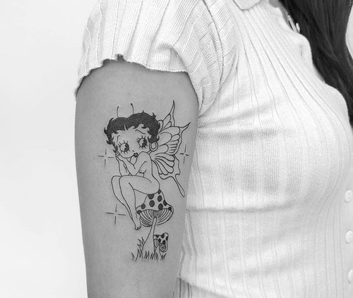 Betty Boop tattoo hada