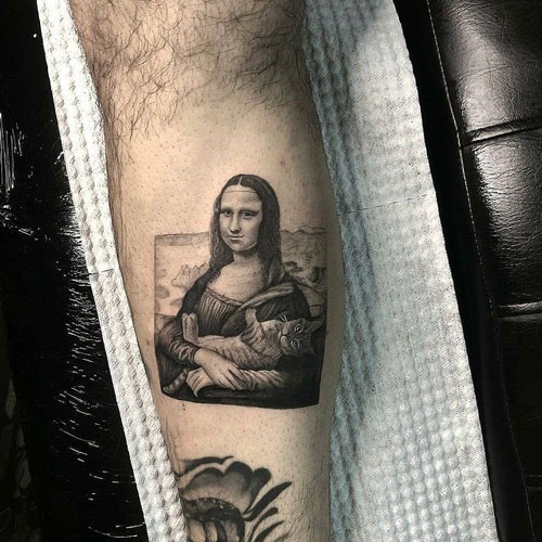 Tattoo la monalisa