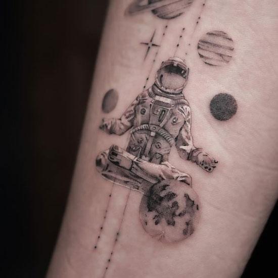 Tatuaje de los planetas