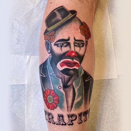 Tatuaje payaso triste