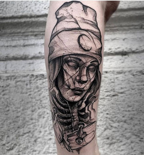 arte abstracto tatuaje