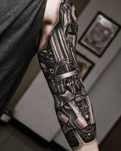 brazo mecanico tatuaje