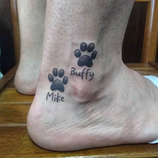 huellas de perritos tatuajes