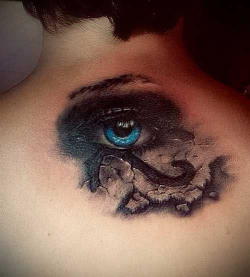 ojo de ra tatuaje realista