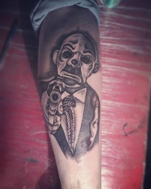 payaso gans tatuaje