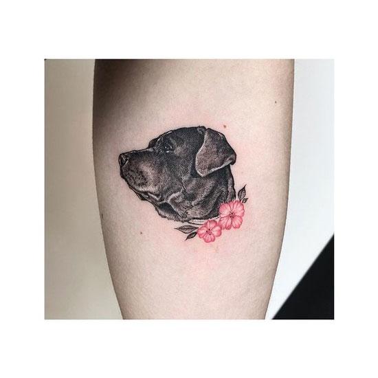 perro labrador tatuaje