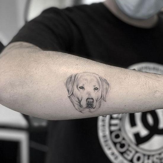 retriever tattoo