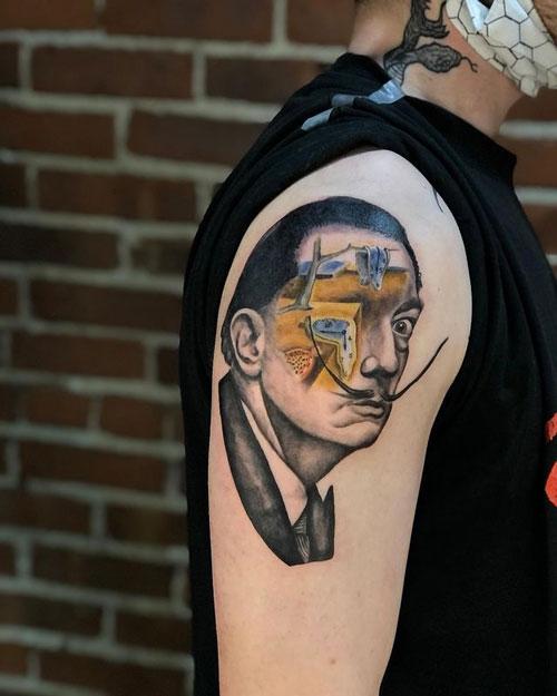 tattoo salvador Dali