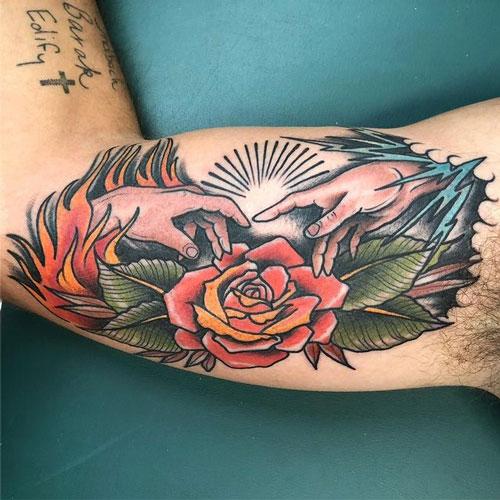 tattoo tradicional de la creación