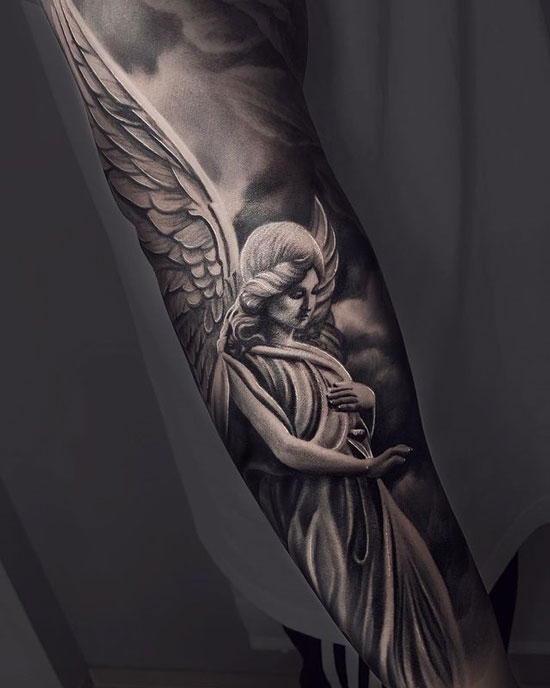 tatuaje angel de la guarda