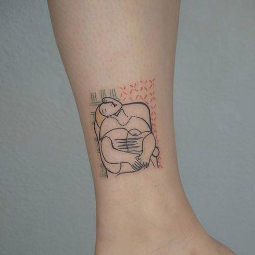 tatuaje de el sueño de pablo picasso