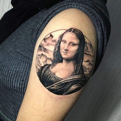 tatuaje de la monalisa