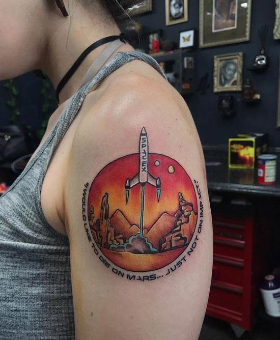 tatuaje de marte