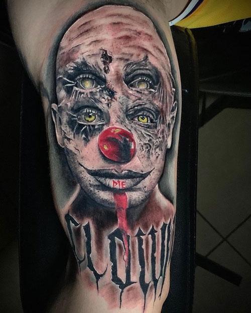 tatuaje de payasos