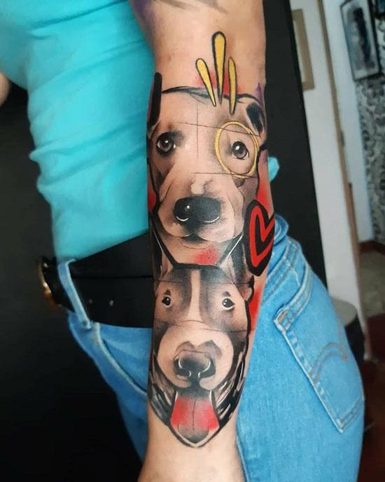 tatuaje de pitbulls