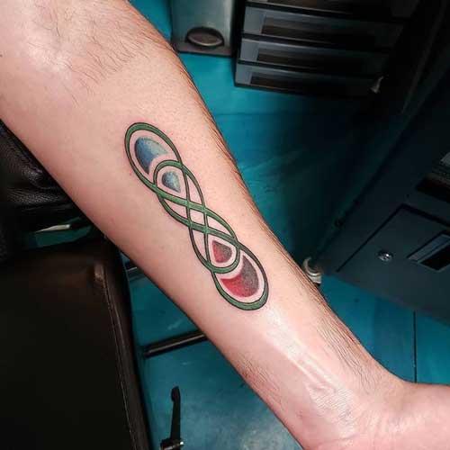 tatuaje doble infinito