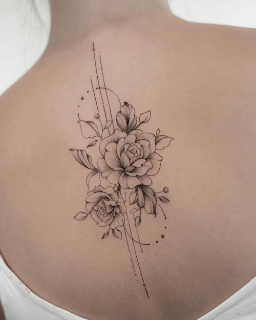 tatuaje para mujer de rosas