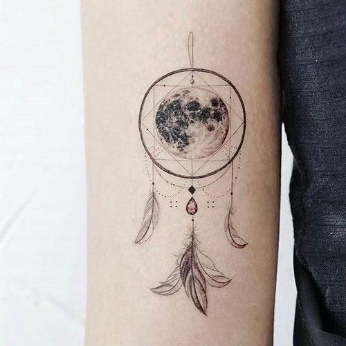 tatuaje geometrico atrapasueños