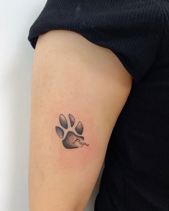 tatuaje huella de mascota