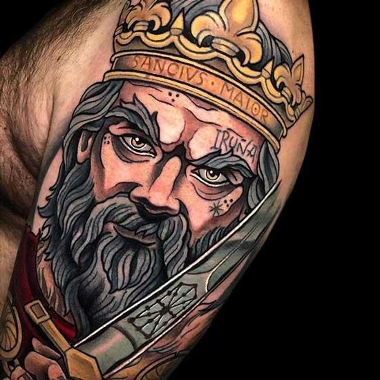 tatuaje ilustracion Rey
