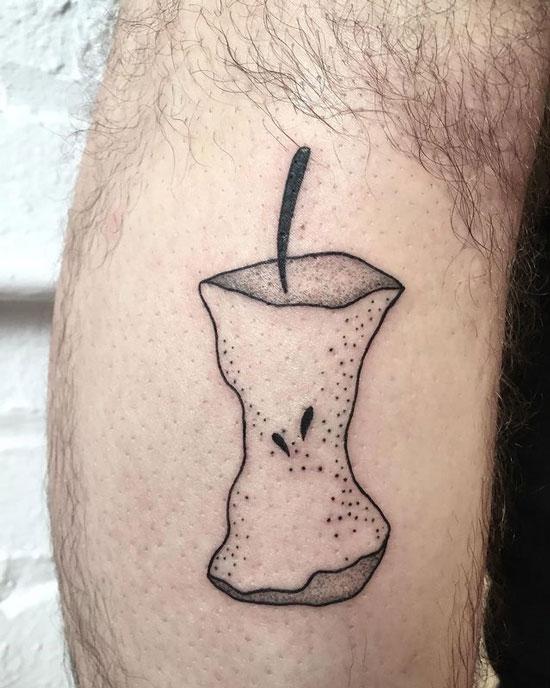 tatuaje manzana mordida