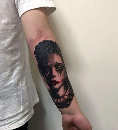 tatuaje payasita triste
