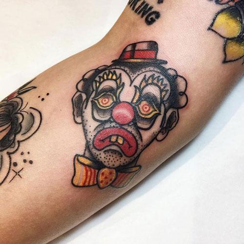 tatuaje payasos tristes