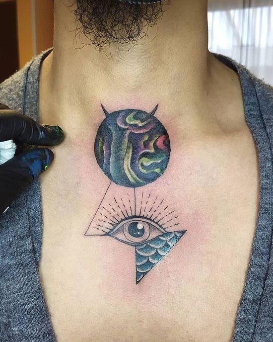 tatuaje planeta mercurio