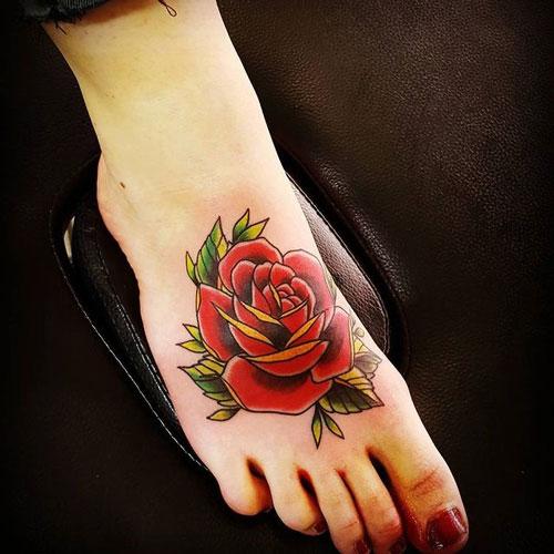 tatuaje de una rosa